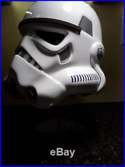 1 STAR WARS Stormtrooper Helmet Prop Replica Nice1/1 Scale Helmet Plus Stand