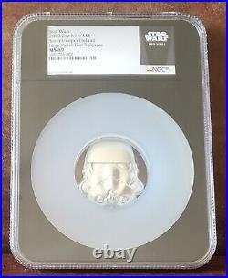 2020 Star Wars NGC MS 69 NIUE 2oz Silver $5 STORMTROOPER HELMET 1st Release