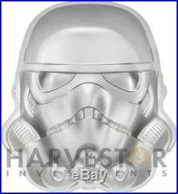 2020 Star Wars Stormtrooper Helmet 2 Oz. Silver Coin High Relief Ogp Coa