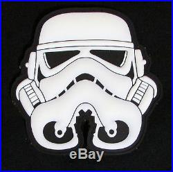 3d Pvc Glow Stormtrooper Helmet Star Wars 1st Order Velcro Brand Fastener Patch