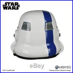 ANOVOS STAR WARS Blue Commander Stormtrooper Helmet Accessory Prop New In Stock