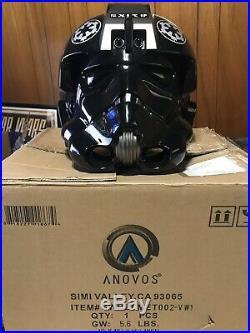 ANOVOS STAR WARS Lt. OXIXO TIE FIGHTER PILOT HELMET 11 Stormtrooper Vader EFX