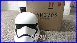 ANOVOS STAR WARS TFA FIRST ORDER STORMTROOPER FIBERGLASS HELMET EXCLUSIVE 501st