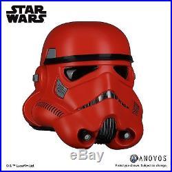 ANOVOS Star Wars Crimson Stormtrooper Helmet 11 Prop Replica NEW COSPLAY