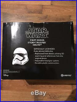 ANOVOS Star Wars First Order Stormtrooper Replica Helmet Wearable Standard Line