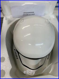 Anovos Star Wars FIRST ORDER STORMTROOPER Premier Fiberglass Helmet NEW