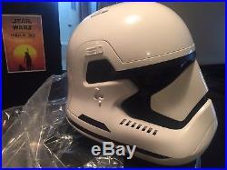 Anovos Star Wars First Order Helmet 1st run Brand New Unused
