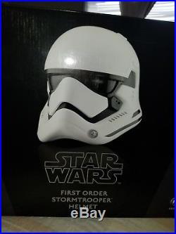 Anovos Star Wars The Force Awakens First Order Stormtrooper Premier Helmet New