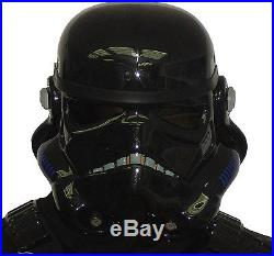 Black Replica Stormtrooper Helmet compatible with Shadowtrooper Costume Armour