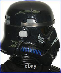 Black Stormtrooper Helmet for Star Wars Shadowtrooper Costume Armour