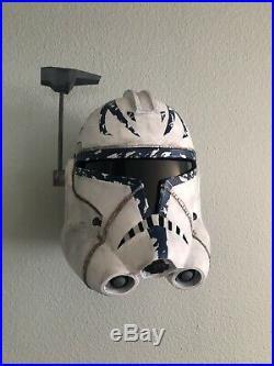 Captain Rex Star Wars The Clone Wars Replica Helmet Prop with Wall Mount