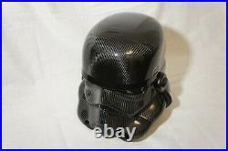 Carbon fiber Stormtrooper Helmet size 11 Hand Made