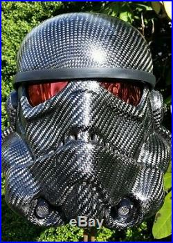Carbon fiber stormtrooper helmet