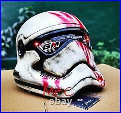 Custom Stormtrooper Classic White Blod Helmet Motorcycle (APPROVED DOT/ECE)