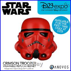 D23 Debut Star Wars Crimson Stormtrooper Helmet by Anovos