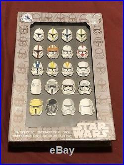 Disney D23 2017 Expo Exclusive Star Wars Storm Trooper Helmet 20 Pin Set LE 500