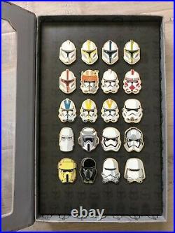 Disney D23 Expo Exclusive Star Wars Storm Trooper Helmet 20 Pin Set LE 500