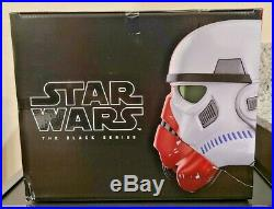 Disney Hasbro Star Wars Black Series Incinerator Stormtrooper Electronic Helmet