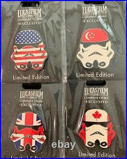 Disney ILM Lucasfilm Studios Star Wars Stormtrooper Helmet LE 150 Pin Set