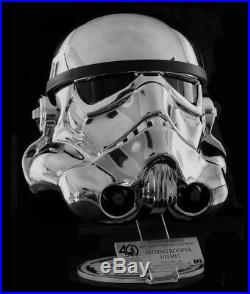 EFX Star Wars 40th Anniversary Commemorative Chrome Stormtrooper Helmet