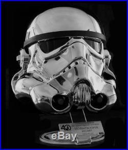 EFX Star Wars 40th Anniversary Commemorative Chrome Stormtrooper Helmet- NEW