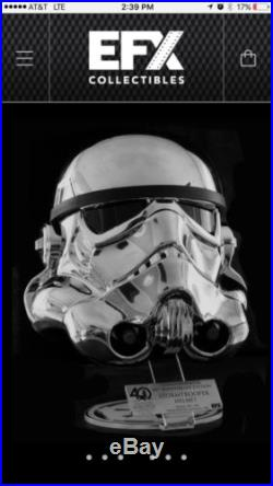 EFX Star Wars Chrome Stormtrooper Helmet Celebration 2017 Exclusive LE 238/500
