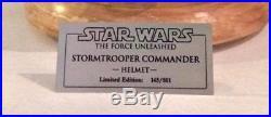 EFX Star Wars Stormtrooper Commander Helmet Prop Replica Limited Ed. RARE