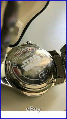 FOSSIL STAR WARS WATCH Stormtrooper Only 3000 Made! With Helmet Display! NWT