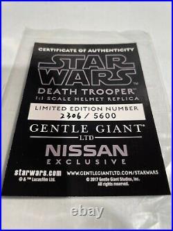 Gentle Giant Star Wars DEATH TROOPER 11 Helmet Nissan EX/Mandalorian/EFX/Anovos
