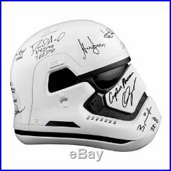 Harrison Ford, Star Wars Force Awakens Cast Autographed Stormtrooper Helmet
