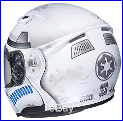 Hjc Cs-r3 Star Wars Storm Troopers Motorcycle Helmet Large Free Silver Shield