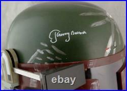 Jeremy Bulloch Autographed Star Wars Boba Fett Helmet JSA W Auth White
