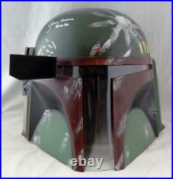 Jeremy Bulloch Signed Star Wars Boba Fett Helmet withBoba Fett- JSA W Auth White