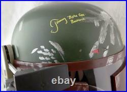 Jeremy Bulloch Signed Star Wars Boba Fett Helmet withBoba Fett- JSA W Auth Yellow