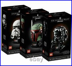 LEGO 75274 75276 75277 Star Wars Helmets Stormtrooper TIE Fighter Boba Fett NEW