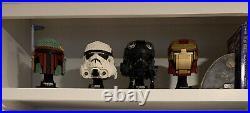 LEGO Star Wars 3 Bust Set! Boba Fett, Stormtrooper, Tie Fighter Pilot Helmet New