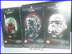 LEGO Star Wars Helmet Stormtrooper Boba Fett TIE Fighter Pilot 75274 75277 75276