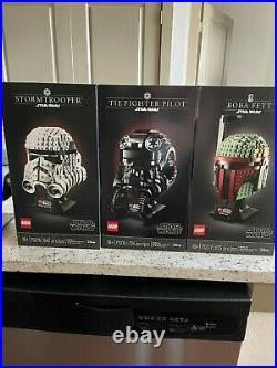 Lego Star Wars Helmet Collection 75277, 75276, 75274 (3 sets together)