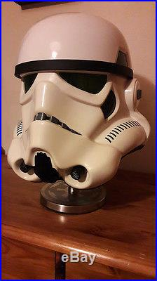 MASTER REPLICAS STORMTROOPER HELMET STAR WARS limited edition BOXED USED