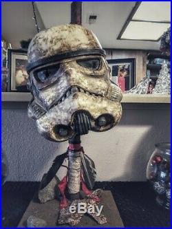 Mandalorian Inspired Star Wars The Black Series Imperial Stormtrooper helmet
