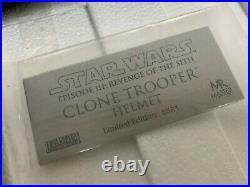 Master Replica Star Wars Clonetrooper Stormtrooper 11 Helmet Replica SW-144 COA