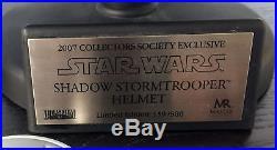 Master Replicas Shadow Stormtrooper Helmet Black EP IV LE Blackhole #159