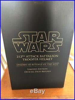 Master Replicas Star Wars 1/1 212th Attack Battalion Trooper Prop Helmet NEW MIB
