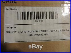 Master Replicas Star Wars Shadow Stormtrooper Helmet. 45 Scale Mib Convention Ex