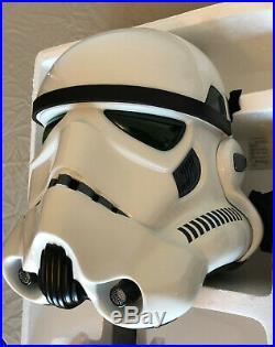 Master Replicas Star Wars Stormtrooper Helmet 11 SW-153 LE-P withPrint NEW