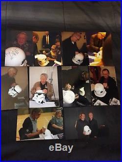 Master Replicas Storm Trooper Helmet Signed