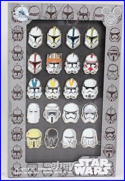 NEW Disney D23 Expo 2017 Star Wars Stormtrooper Trooper Helmet 20 Pin Set LE 500