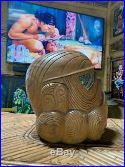 New Maori Tiki Style Star Wars Storm Trooper Wooden Helmet Carving Solid Wood
