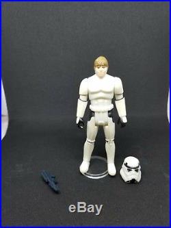 Rare Vintage Star Wars Last 17 Luke Stormtrooper & Helmet POTF 1984 LOT HTF READ