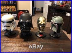 Riddell Star Wars Helmet. 45 scale. Boba Fett, Darth Vader, Stormtrooper C3po